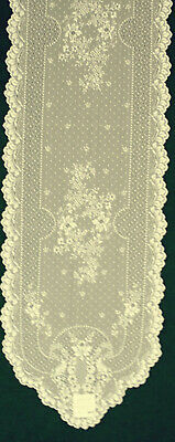 Floret Table Runner 14x72  Ecru Lace Table Runner Heritage Lace