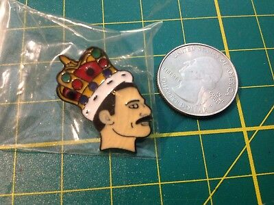 Freddie Mercury Legend Queen Singer Pin Soft Enamel Brooch badge Music Art