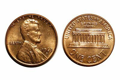 1963-D Lincoln Cent - Double Die CONECA DDO-002 Choice BU Red #246