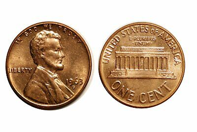 1963-D Lincoln Cent - Double Die CONECA DDO-002 Choice BU Red #248