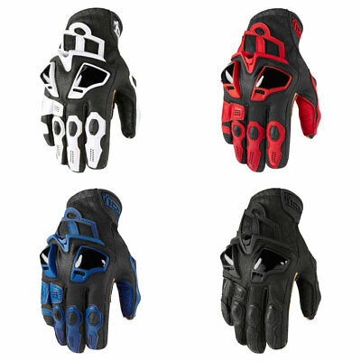 2019 Icon Hypersport Short Cuff Leather Motorcycle Gloves - Pick Size/Color