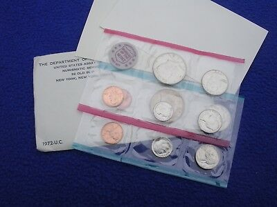 1972 P & D US Mint Uncirculated 11 Coin Set S Penny