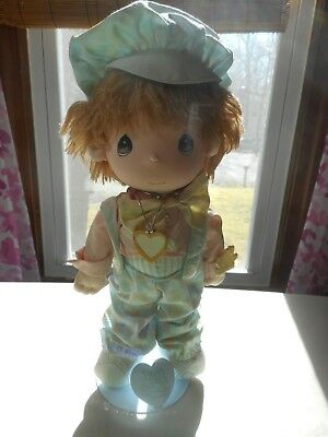 "Applause - Precious Moments - Boy Plush Doll - 14"" with stand"