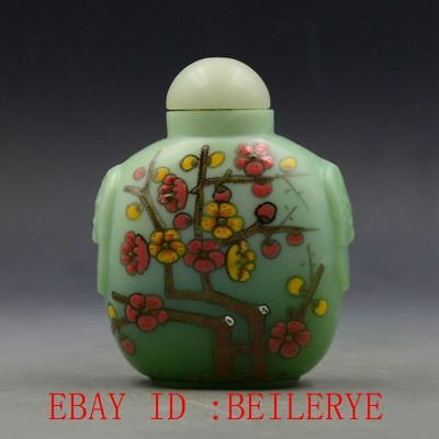 Antique Chinese Glass Handmade Plum Blossom Snuff Bottles BY105