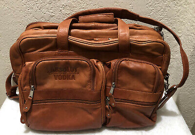 a7b4f01b9a2f Canyon Outback Caramel Brown Leather Big Laptop Messenger Briefcase Carry  On Bag