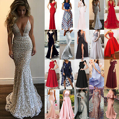 9ec7a99ae08 Sexy Womens Wedding Cocktail Formal Prom Evening Party Long Maxi Dress Ball  Gown
