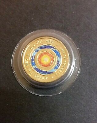 "Australia 2018 $2 dollar Anzac Day ""Eternal Flame"" Unc coin in capsule."