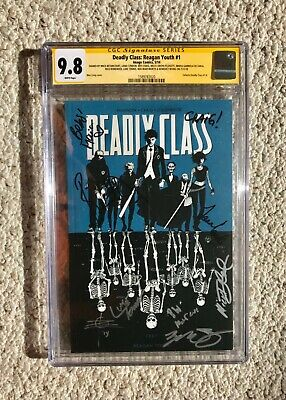 9x Cast Signed DEADLY CLASS 9.8 CGC SS Lana Condor Wes Craig Rick Rememder 1 tpb