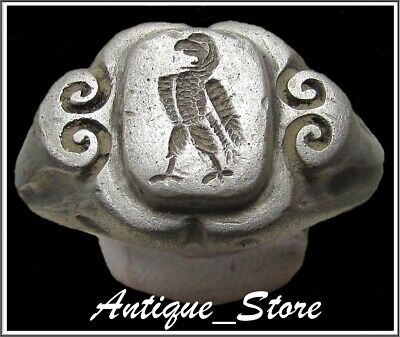 ** AQUILA-LEGIONARY EAGLE **Ancient Silver Legionary Roman Ring *AMAZING *26.9g