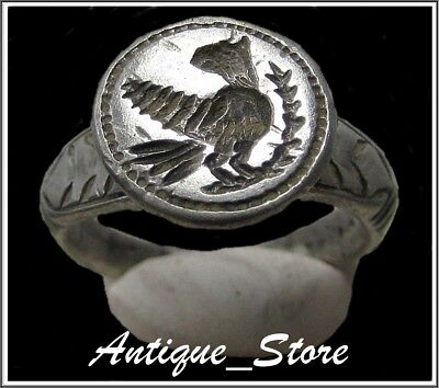 ** AQUILA-LEGIONARY EAGLE **Ancient Silver Legionary Roman Ring **AMAZING **RARE