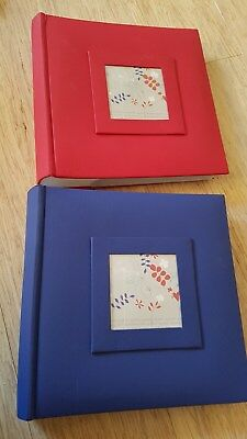 2 x PHOTO ALBUMS RED AND BLUE  UR1