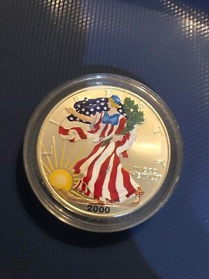 1999 Colorized American Silver Eagle Proof 1 Troy Oz. .999 Fine One Dollar Coin