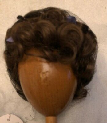 NEW DOLL WIG Style VICKIE Size 12-13 Color Light Brown Curls /& High Pigtails