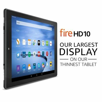 """Amazon Fire HD 10 Tablet with Alexa 10.1"""" HD Display 16 GB Black +Special Offers"""
