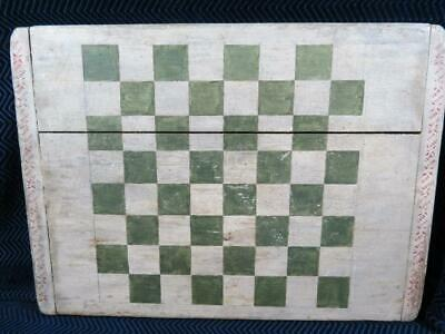 Antique 19th Century Folk Art Game Board with Breadboard Ends - 16 x 22