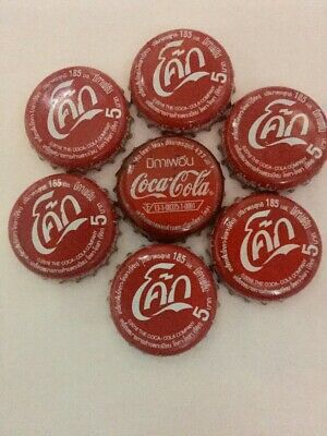 Lot 7 Bottle Caps Coke Mix Thailand Collectible Advertising Soda Free Shipping