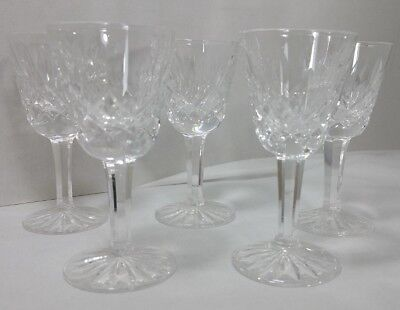 2 Waterford Crystal Lismore Sherry Cordials Goblet Signed (get 5 Glasses )
