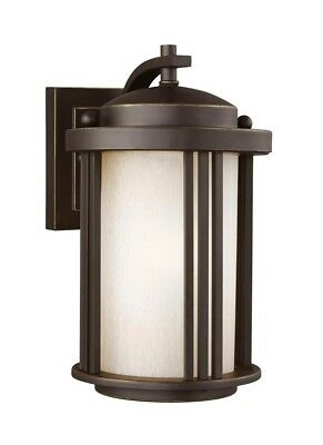 Sea Gull Lighting CROWELL LED Outdoor Wall Lantern Sconce 8547901DEN3-71 NEW