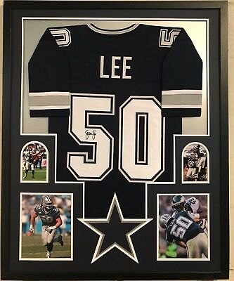 FRAMED SEAN LEE Autographed Signed Dallas Cowboys Jersey Jsa Coa ... 52e9f0642