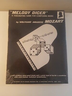 """Unique Vintage """"Melody Dicer"""" Game by Wolfgang Amadeus Mozart SEALED NIB"""