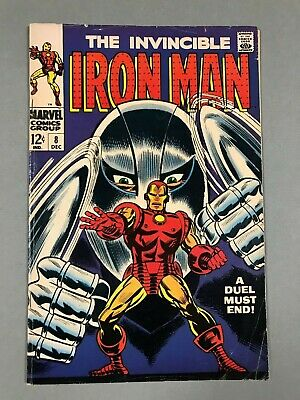 1968 IRON MAN #8 * Classic GLADIATOR Cover!  Nice & Solid