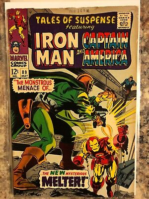 Tales of Suspense #89 Marvel Comics Iron Man and Captain America appearance