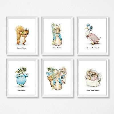 Peter Rabbit Nursery Room Wall Art Kids Room Decor, Beatrix Potter