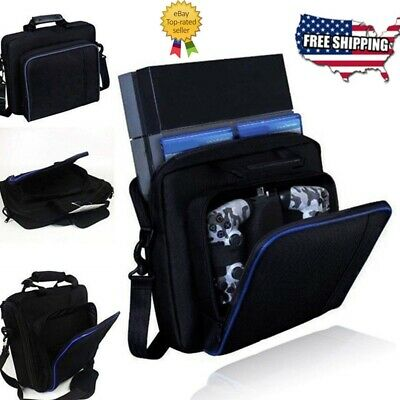 PlayStation4 PS-4 Console Case Travel Protective Padded Carry Bag Shoulder Strap