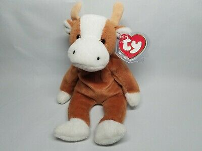 AUTHENTIC TY BEANIE Baby Bessie the Cow Rare 3rd 1st Gen Tag MWNMT ... 5913e500e67