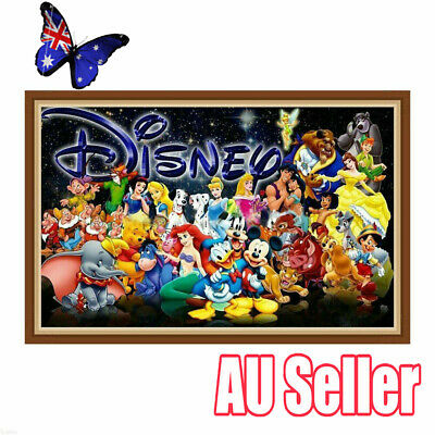 Disney Family Full Drill DIY 5D Diamond Painting Embroidery Cross Stitch VW