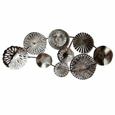 Abstract Circles Copper Metal Wall Art 106cm Hanging Sculpture Home Garden Or...