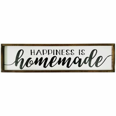 Rustic Framed Farmhouse Sign Wooden Wall Art 80cm Hanging Sculpture Home Gard...