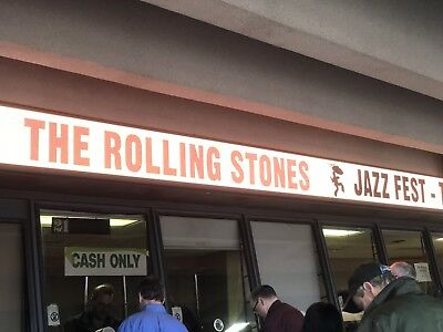 4 Tickets Rolling Stones At New Orleans Jazz And Heritage Festival