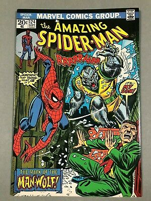 1973 AMAZING SPIDER-MAN #124 * Classic 1st App MAN WOLF Cover * Very Nice! Key!