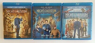Night at the Museum 3 Movie Collection (Blu-rays) No Digital Codes