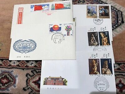 CHINA, China stamp,  FDC, first day cover , 5 covers