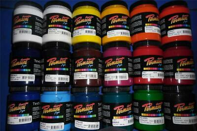 """300ml PERMASET SCREEN PRINTING """"STANDARD"""" INK FOR T SHIRTS OR FABRIC"""