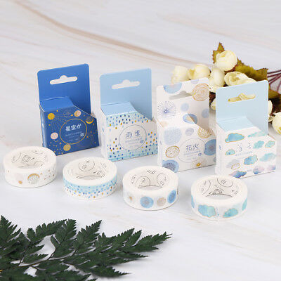 Clouds starry sky rain tape adhesive masking tapes scrapbooking