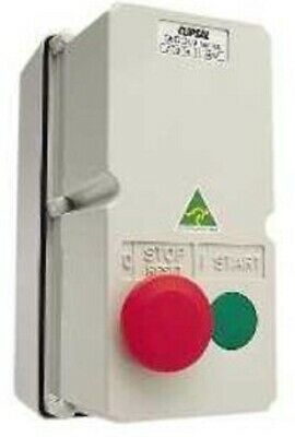 Clipsal DIRECT ONLINE MOTOR STARTER 4kW 240V Coil 9A 3-Phase 2-Push Button, Grey