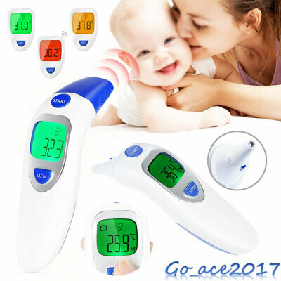 LCD Digital Forehead & Ear Thermometer Infrared 3 IN 1IR Medical Memory Recall