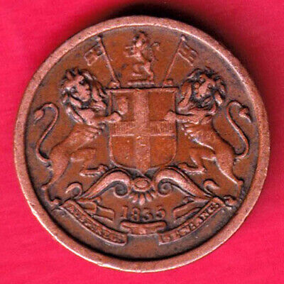 British India - 1835 - East India Company - 1/12 Anna - Rare Coin #rd15