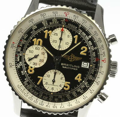 BREITLING Old Navitimer A13022 Automatic Leather belt Men's Watch_454627