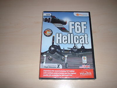 ✈️ FSX GRUMMAN F6F Hellcat Fighter ~ Flight Simulator X Fsx Add-On *new  Sealed*