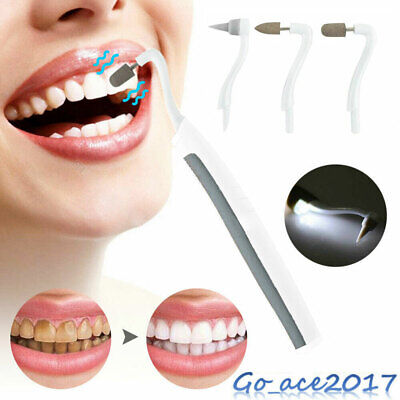 Electric Sonic Pic Tooth Beauty Cleaner Plaque Remover Vibrating Teeth Tool LED