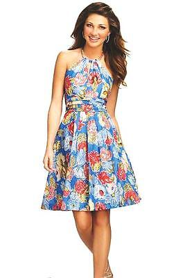 Purely $219 7112 Alfred Angelo 14 Floral Cotton Sun Dress Wedding Party Resort