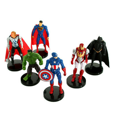 6 Type Super Hero The Avengers action figure Spiderman Toys Captain America Hulk