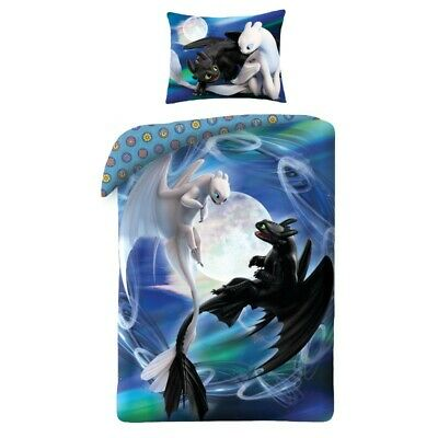 HOW TO TRAIN YOUR DRAGON Single Duvet Cover Quilt Cover Bedding Set 100% Cotton