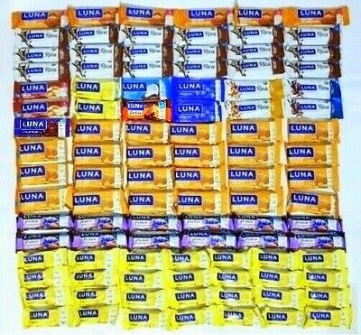 80 Luna Bar Nutrition Protein Assorted Mix 12 Different Flavors  2 Days Delivery