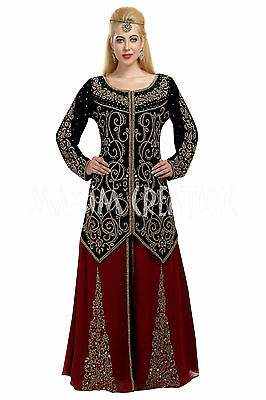 dace8fb610 Moroccan Traditional Wear Robe Embroidered Christian Wedding Dress Daraat  5842