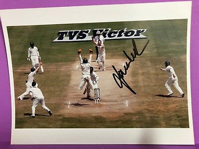 Aust/India Cricket- Photographs, Autographs-McGrath, Gillespie, Kasprowicz + (2)